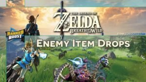 Zelda Breath of the Wild Enemy Item Drops