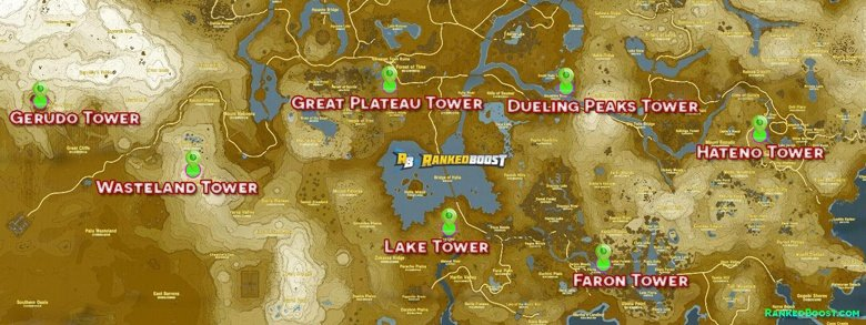 Zelda Breath of the Wild Sheikah Tower Locations