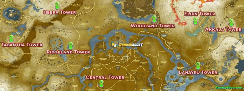 Zelda Breath of the Wild Tower Locations