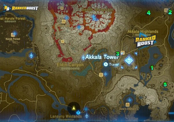 Zelda Breath of the Wild Shrine Locations
