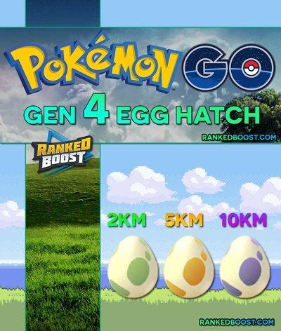 Pokemon Go Generation 4 Egg Hatch List All Gen 4 Egg Pokemon