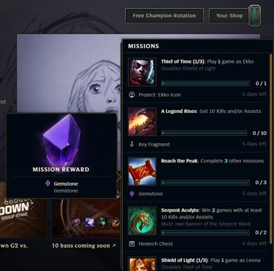 League of Legend Missions