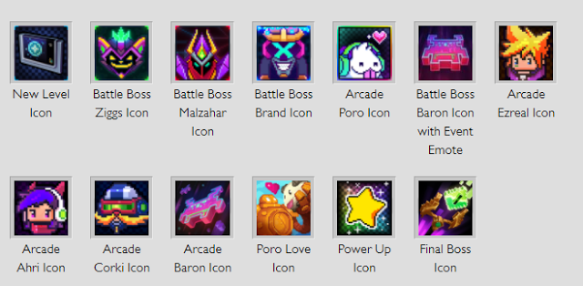 League of Legends Arcade Icons