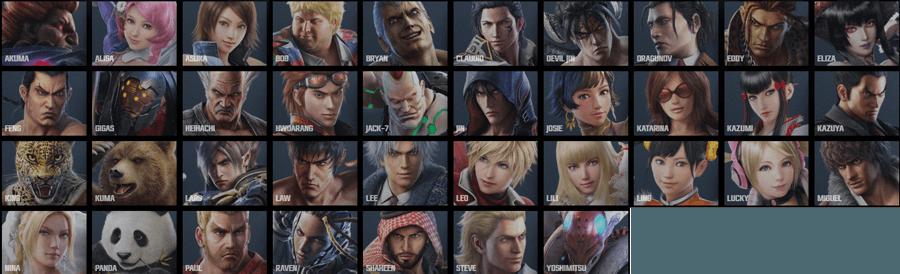 Tekken-7-Character-List