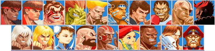 super street fighter 2 turbo characters