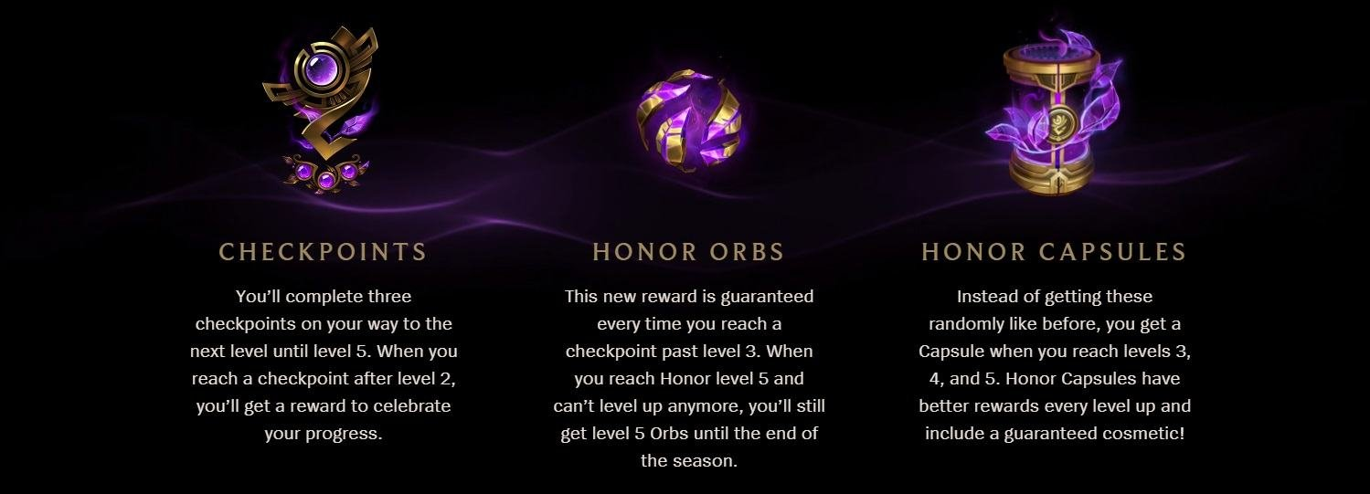 League of Legend Honor Rewards | LoL Season 8 Honor Update