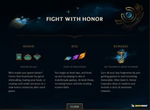 League of Legend Honor Rewards | Season 8 Honor Update