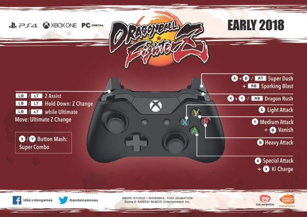 Dragon Ball FighterZ Controls XBOX