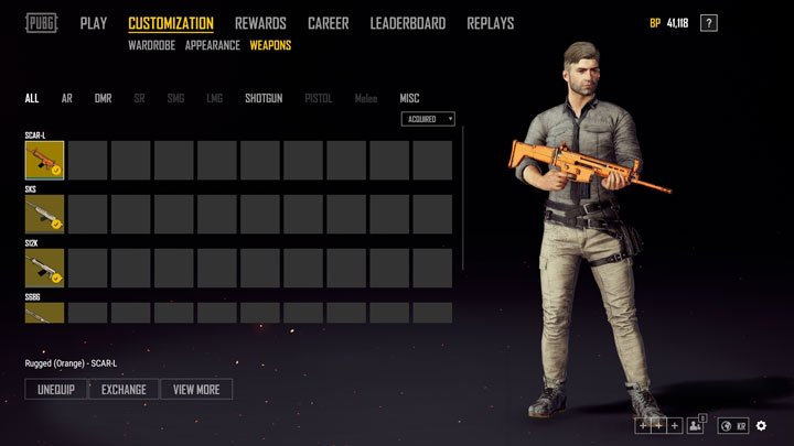 Playerunknowns Battlegrounds Weapon Skins Pubg Skins