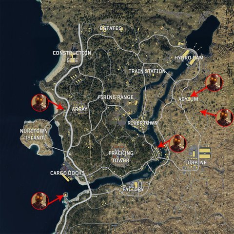 Call of Duty Black Ops 4 Zombie Locations In Blackout