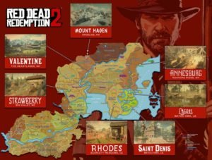 Red Dead Redmeption 2 Map