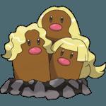 Alolan Dugtrio Pokemon Lets GO