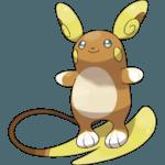 Alolan Raichu Pokemon Lets GO