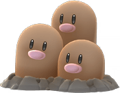 Dugtrio Pokemon Lets GO