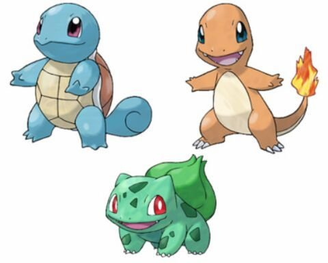 Pokemon Let's Go Charmander, Bulbasaur and Squirtle
