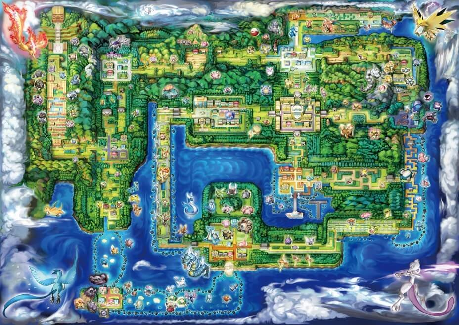 Pokemon Let's Go Location Zones
