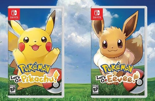 pokemon let s go starter pokemon eevee and pikachu