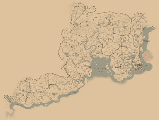 Red Dead Redemption 2 World Map | Locations, Towns, Hunting Areas