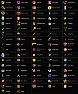 Super Smash Bros Ultimate Items List