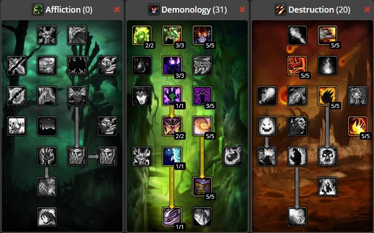 World Of Warcraft Classic Demonology Warlock Build Best Demonology