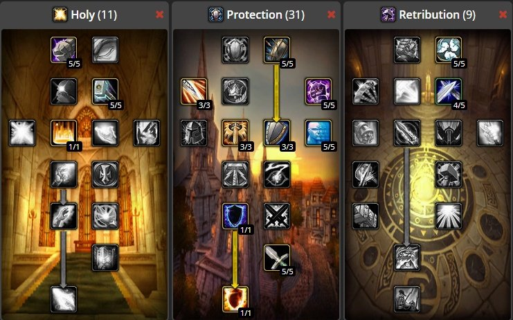 World of Warcraft Classic Protection Paladin Build | Best