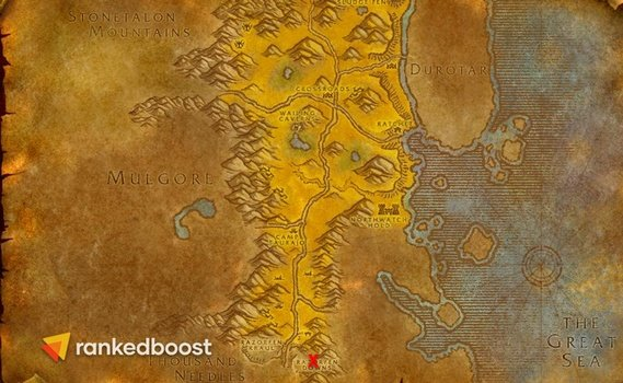 WoW-Classic-Razorfen-Downs-Location