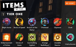 Dota Underlords Items