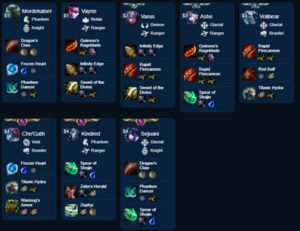 League of Legends Teamfight Tactics Builds 9.22