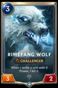 Rimefang Wolf Legends of Runeterra