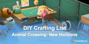 Animal Crossing New Horizons DIY Recipes