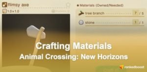 Animal Crossing New Horizons Crafting Materials