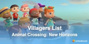 Animal Crossing New Horizons Villagers List