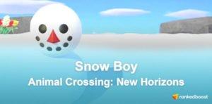 Animal Crossing New Horizons Snow Boy