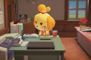 Isabelle At Her Desk New Horizons