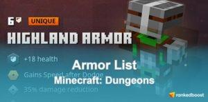 Minecraft Dungeons Armor List