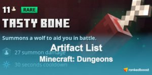 Minecraft Dungeons Artifact List
