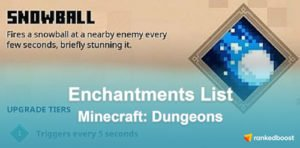 Minecraft Dungeons Enchantments List
