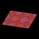 Red Argyle Rug