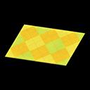 Yellow Argyle Rug