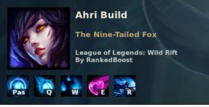 Ahri Build League of Legends Wild Rift