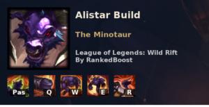 Alistar Build League of Legends Wild Rift