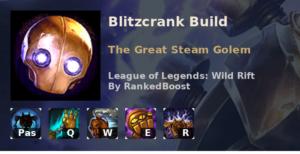Blitzcrank Build League of Legends Wild Rift
