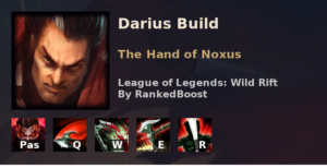 Darius Build League of Legends Wild Rift