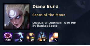 Diana Build League of Legends Wild Rift