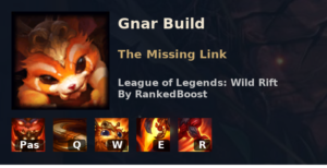 Gnar Build League of Legends Wild Rift