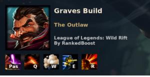 Graves Build League of Legends Wild Rift