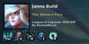 Janna Build League of Legends Wild Rift