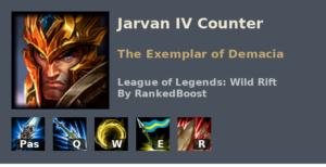 Jarvan IV Counter League of Legends Wild Rift