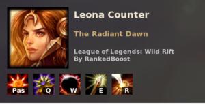 Leona Counter League of Legends Wild Rift