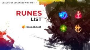 League of Legends Wild Rift Runes